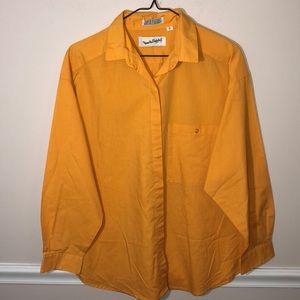 Vintage DVF Diane Von Furstenberg Yellow Shirt L